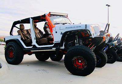 white custom jeep